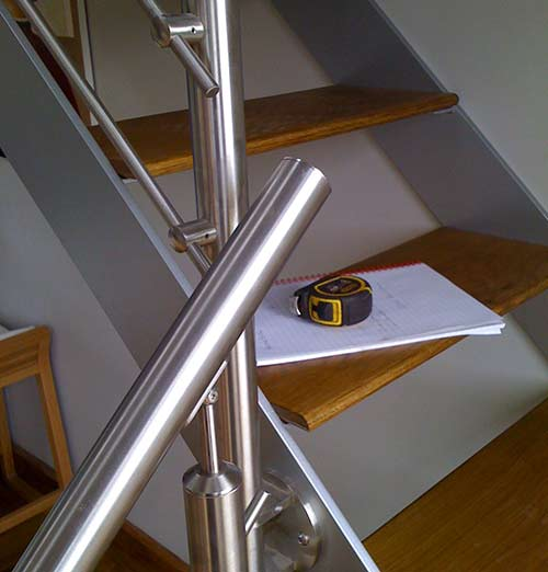 steel fabrication Bath stairs