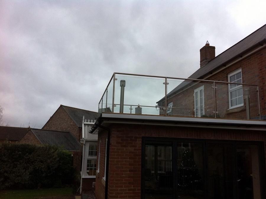 Glass and Steel Balcony